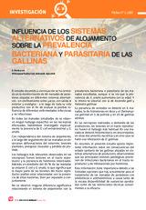 INFLUENCIA DE LOS SISTEMAS ALTERNATIVOS DE ALOJAMIENTO SOBRE LA PREVALENCIA BACTERIANA Y PARASITARIA DE LAS GALLINAS