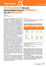 RE-EVALUACIÓN DE LOS REQUERIMIENTOS EN VITAMINA D DE LOS BROILERS
