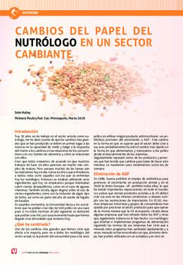 CAMBIOS DEL PAPEL DEL NUTRÓLOGO EN UN SECTOR CAMBIANTE