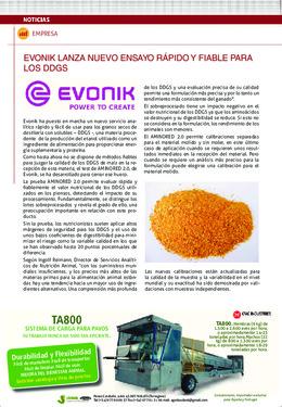 Evonik lanza nuevo ensayo rápido y fiable para los DDGS