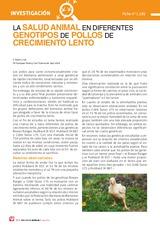 La salud animal en diferentes genotipos de pollos de crecimiento lento