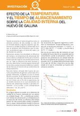Efecto de la temperatura y el tiempo de almacenamiento sobre la calidad interna del huevo de gallina
