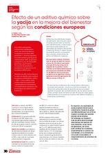 Efecto de un aditivo químico sobre la yacija en la mejora del bienestar según las condiciones europeas