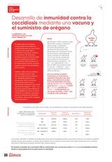 Desarrollo de inmunidad contra la coccidiosis mediante una vacuna y el suministro de orégano
