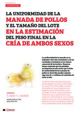 La uniformidad de la manada de pollos y el tamaño del lote, en la estimación del peso final en la cría de ambos sexos