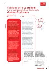 Viabilidad de la luz artificial para aumentar el contenido de Vitamina D del huevo
