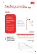 Impacto de la temperatura sobre la migración del ácaro rojo