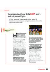 Conferencia-debate de la ERPA sobre avicultura ecológica