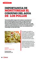 Importancia de monitorear el consumo del agua de los pollos