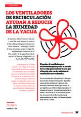 Especial INSTALACIONES AVICOLAS: Los ventiladores de recirculación ayudar a reducir la humedad de la yacija
