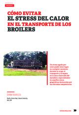 ¿Cómo evitar el stress del calor en el transporte de los broilers?