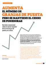 Aumenta el número de granjas de puesta pero se mantiene el censo de ponedoras