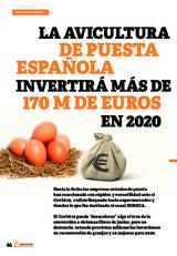 La avicultura de puesta española invertirá más de 170 M de Euros en 2020
