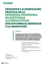 Principios y alimentación práctica de la moderna ponedora en sistemas alternativos: efectos sobre el bienestar y la producción
