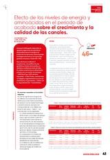 Reducción de las proteínas de las dietas para broilers