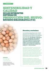 Sostenibilidad y calidad de los diferentes sistemas de producción de huevo: revisión bibliográfica ( y II )