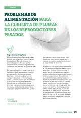 Problemas de alimentación para la cubierta de plumas de los reproductores pesados