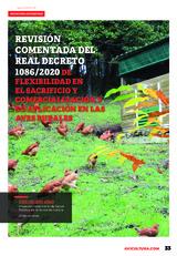 Revisión comentada del Real Decreto 1086/2020 de flexibilidad en el sacrificio y comercialización y su aplicación en las aves rurales