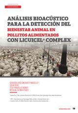 Análisis bioacústico para la detección del bienestar animal en pollitos alimentados con Licuicel® Complex